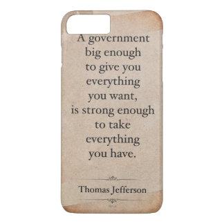 Thomas Jefferson Quote iPhone 8 Plus/7 Plus Case