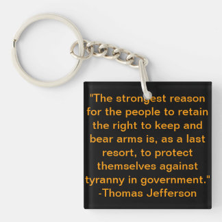 Thomas Jefferson Quote Keychain