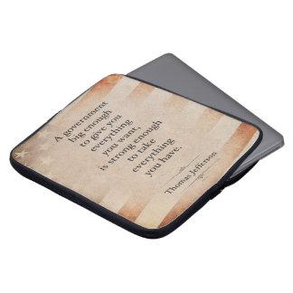 Thomas Jefferson Quote Laptop Sleeve