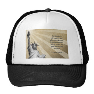 Thomas Jefferson Quote Mesh Hats