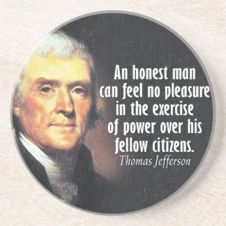 Thomas Jefferson Quote on Power Drink Coasters