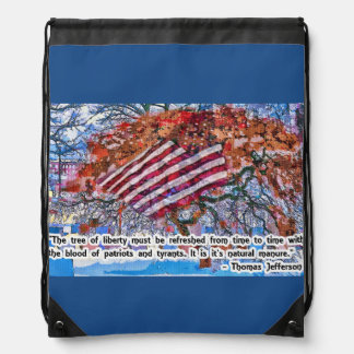 Thomas Jefferson Quote Drawstring Backpack