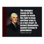Thomas Jefferson Quote Post Cards