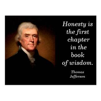 Thomas Jefferson quote- postcard
