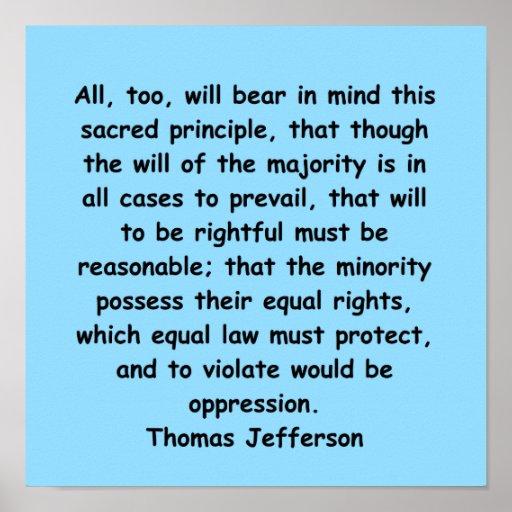 thomas jefferson quote poster