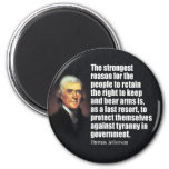 Thomas Jefferson Quote Refrigerator Magnet