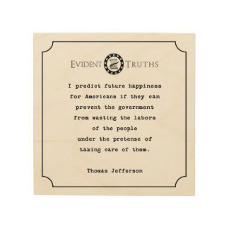 thomas jefferson quote rustic wall plaque econ wood wall art