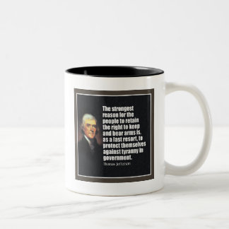 Thomas Jefferson Quote Two-Tone Coffee Mug