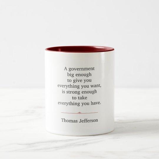 Thomas Jefferson Quote Two-Tone Coffee Mug
