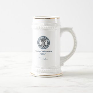 Thomas Jefferson Quote (Vigilance) Beer Stein