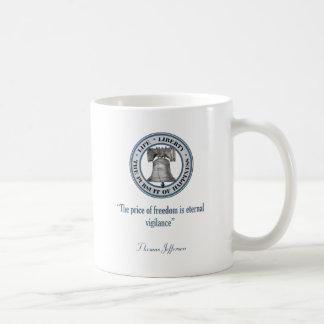 Thomas Jefferson Quote (Vigilance) Coffee Mug