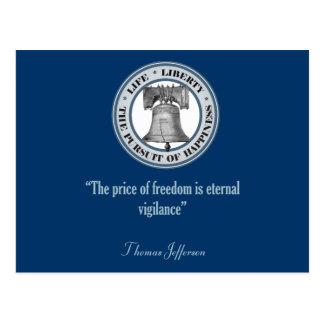 Thomas Jefferson Quote (Vigilance) Postcard