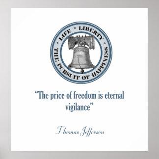 Thomas Jefferson Quote (Vigilance) Poster