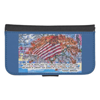 Thomas Jefferson Quote Wallet Phone Case For Samsung Galaxy S4