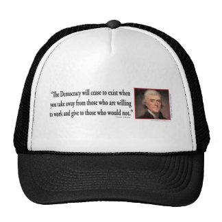 Thomas Jefferson - Quotes Democracy Hat