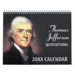 Thomas Jefferson Quotes with Presidential Photo Calendar