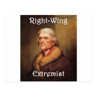 thomas jefferson right-wing rightwing extremist postcard