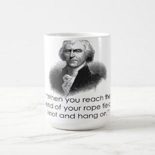 Thomas Jefferson Rope Quote Mug