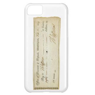Thomas Jefferson Signature on Bank Check 1809 iPhone 5C Case