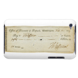 Thomas Jefferson Signature on Bank Check 1809 Case-Mate iPod Touch Case