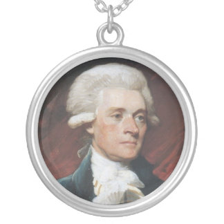 Thomas Jefferson Silver Plated Necklace