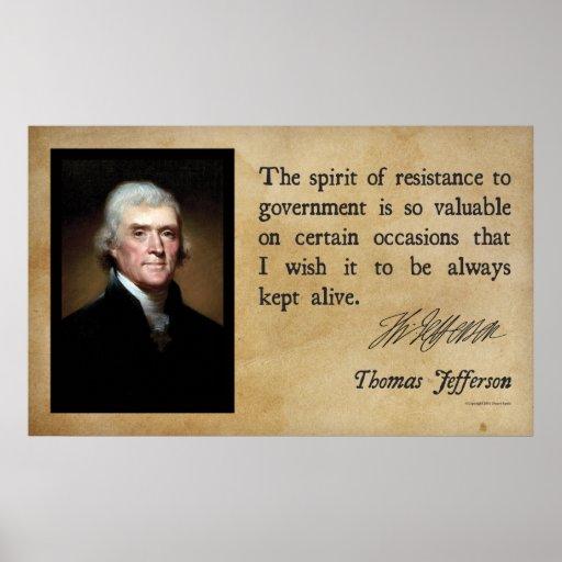 Thomas Jefferson - Spirit of Resistance Poster