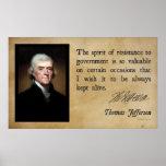 Thomas Jefferson - Spirit of Resistance Posters
