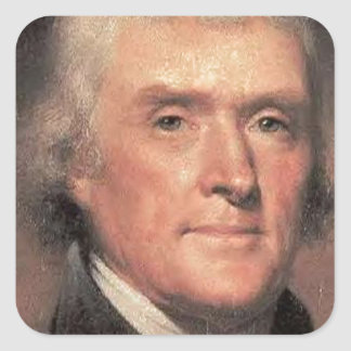 Thomas Jefferson Square Sticker