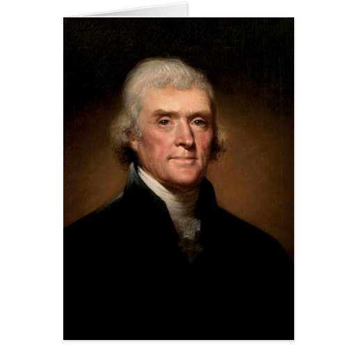 Thomas Jefferson Tarjeta