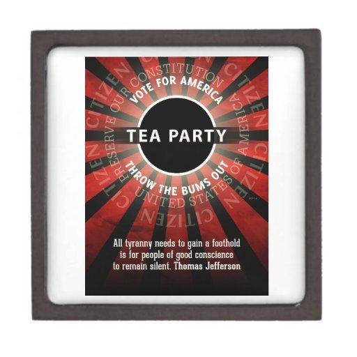 Thomas Jefferson Tea Party Premium Trinket Box
