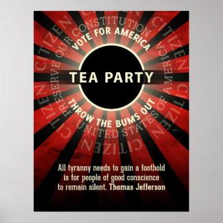 Thomas Jefferson Tea Party Print
