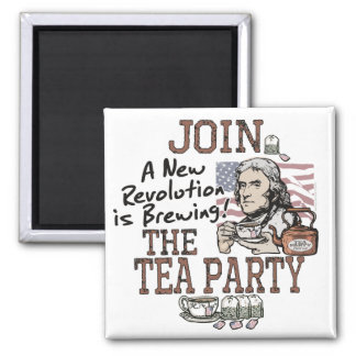 Thomas Jefferson Tea Party Shirts and Gifts Magnet