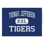 Thomas Jefferson Tigers Middle Fair Lawn Greeting Card