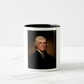 Thomas Jefferson Two-Tone Coffee Mug