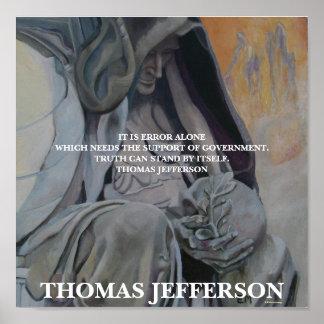 Thomas Jefferson - verdad Póster