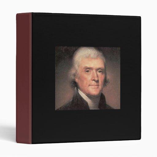 Thomas Jefferson Vinyl Binders