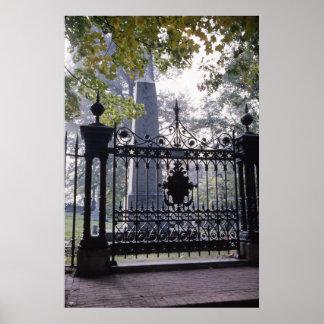 Thomas Jefferson's Grave at Monticello Poster