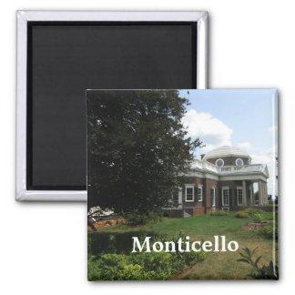 Thomas Jefferson's home: Monticello 2 Inch Square Magnet