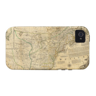 Thomas Jefferys' 1776 American Atlas Map Vibe iPhone 4 Case