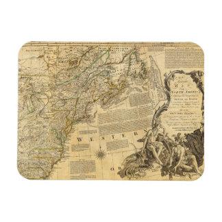 Thomas Jefferys' 1776 American Atlas Map Magnet