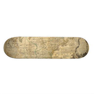 Thomas Jefferys' 1776 American Atlas Map Skateboard Deck