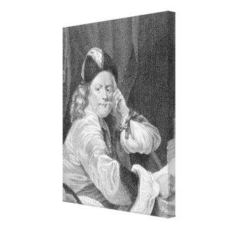 Thomas Killigrew, engraved by J.J Van den Bergh Canvas Print