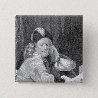 Thomas Killigrew, engraved by J.J Van den Bergh Pinback Button