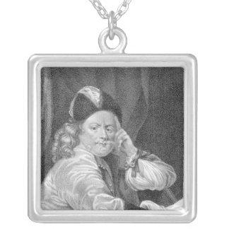 Thomas Killigrew, engraved by J.J Van den Bergh Square Pendant Necklace