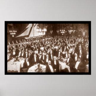 Thomas Lipton Banquet Photo 1906 Poster