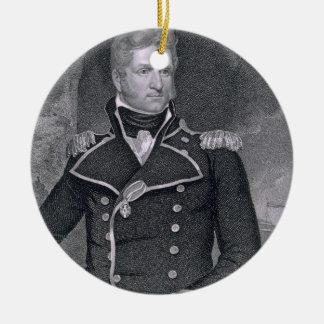 Thomas Macdonough (1783-1825) engraved by John B. Ceramic Ornament