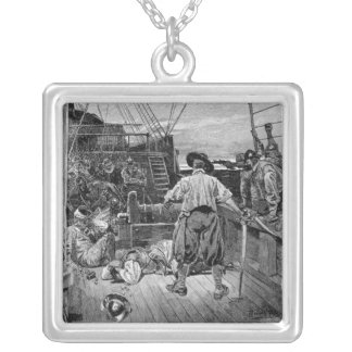Thomas Moon began to Lay about him with his Silver Plated Necklace
