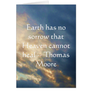 Thomas Moore inspirational  quote with blue sky Card