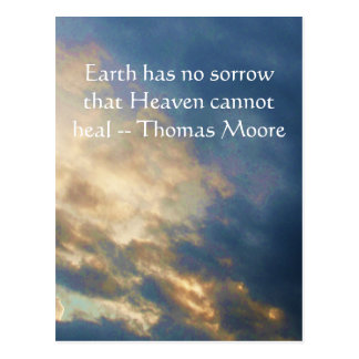 Thomas Moore inspirational  quote with blue sky Postcard