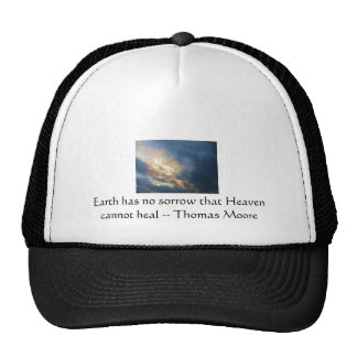 Thomas Moore inspirational  quote with blue sky Trucker Hat